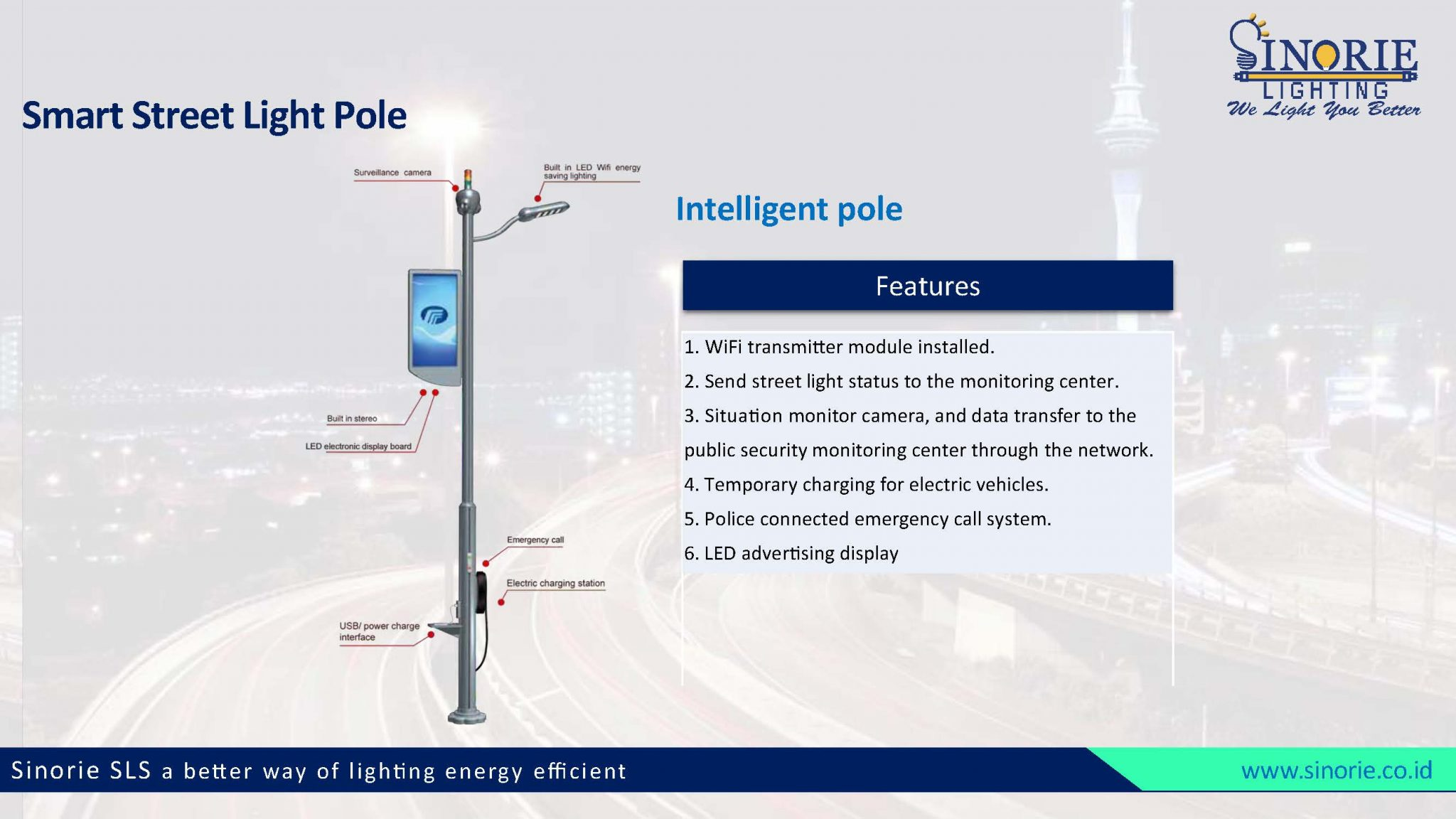 Smart Street Lighting Sinorie
